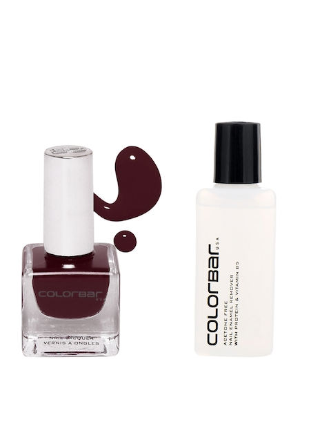 Colorbar Acetone Free Nail Enamel Remover & Colorbar Vamp Luxe Nail Lacquer