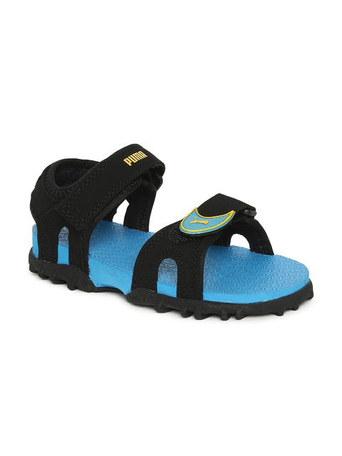 Puma Kids Black Track Junior DP Sports Sandals