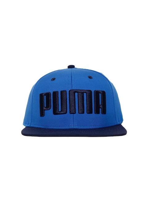 Puma Unisex Blue Self Design Flatbrim Snapback Cap