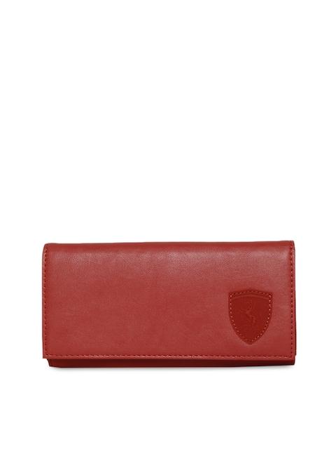 Puma Women Maroon Solid Two Fold Wallet