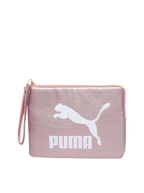 Puma Women Pink Solid Zip Around Wallet