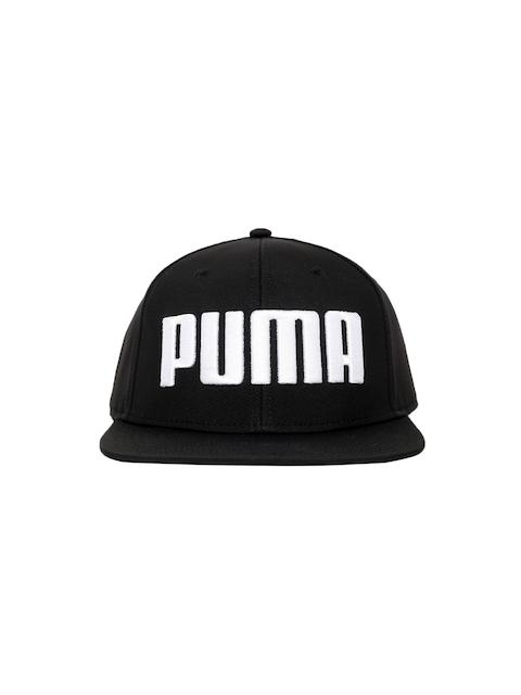Puma Unisex Black Self-Design Flatbrim Cap