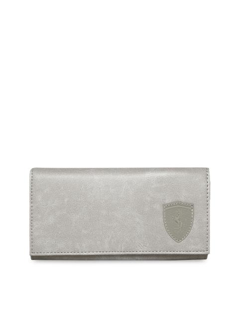 Puma Women Grey Ferrari LS Solid Two Fold Wallet
