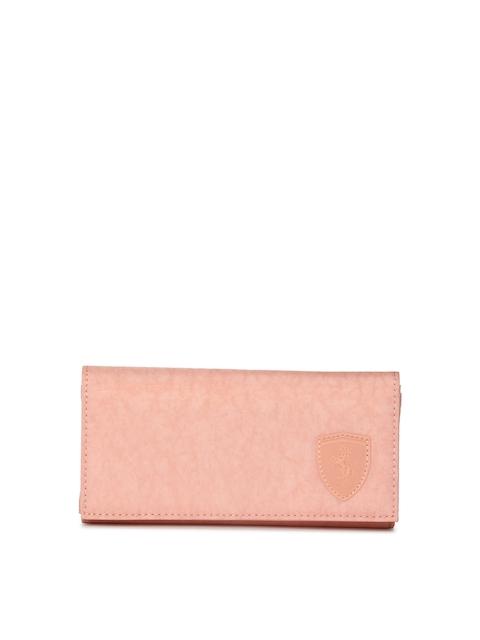Puma Women Pink Solid Two Fold Wallet