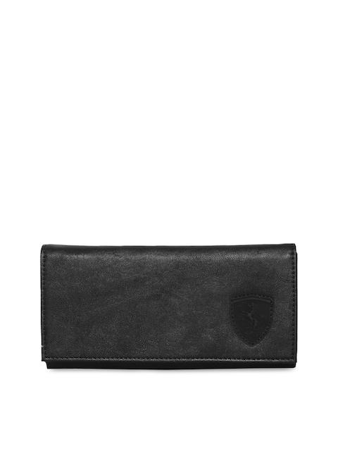 Puma Women Black Ferrari LS Solid Two Fold Wallet