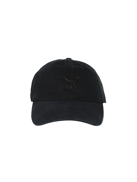 Puma Unisex Black Embroidered Baseball Cap