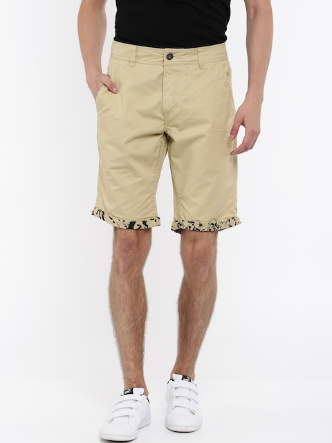 Puma Men Beige Solid Regular Fit Chino Shorts