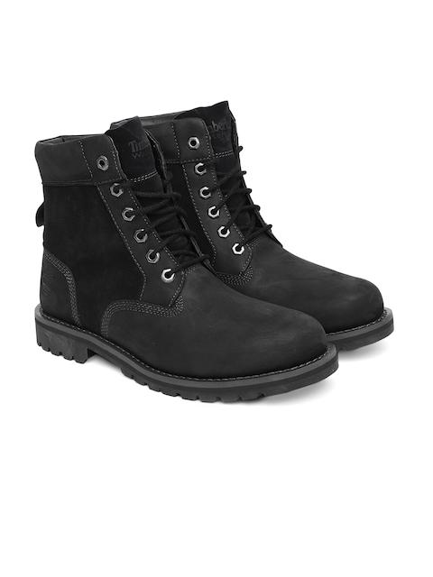 Timberland Men Black 6-inch Premium Leather Waterproof High-Top Boots