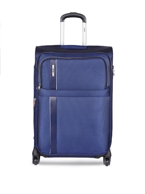 VIP Unisex Blue Tryst EXP Strolly 65 Medium Trolley Bag