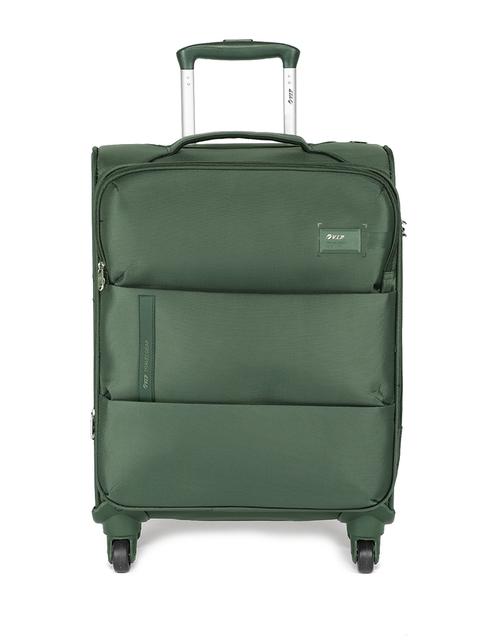 VIP Unisex Green WALTZ 4W EXP STROLLY 56 Cabin Trolley Bag