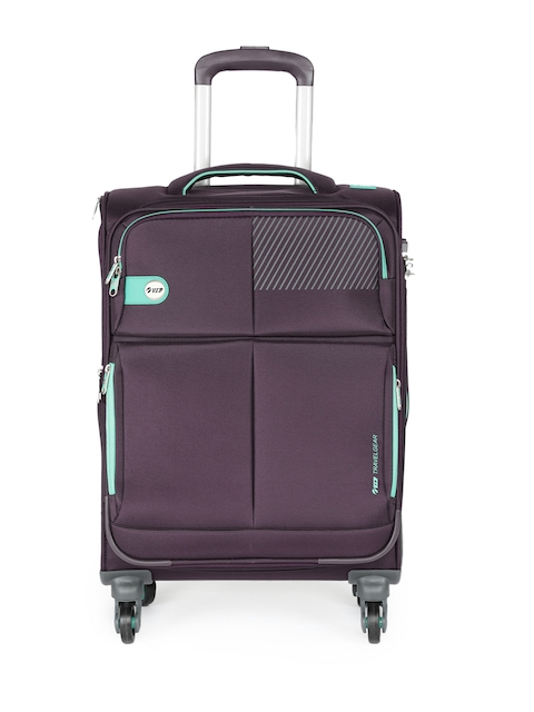 VIP Unisex Purple ELANTRA 4W EXP STROLLY 69 Medium Trolley Bag