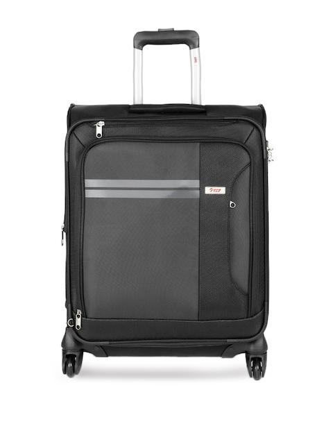 VIP Unisex Black PLAZMA 4W EXP STROLLY 55 Cabin Trolley Suitcase