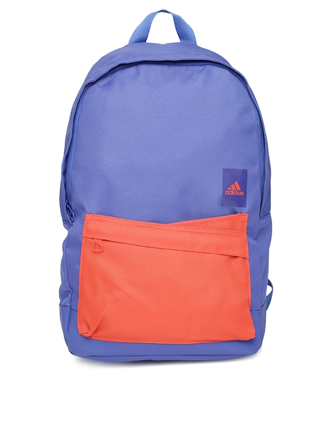 Adidas Unisex Blue & Red Class Colourblocked Backpack