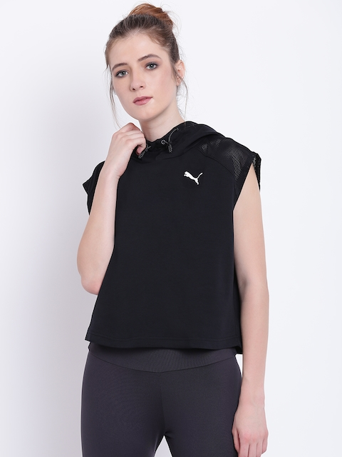 Puma Women Black Evostripe SL Hoody Sweatshirt