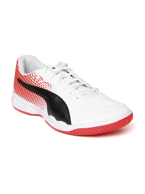 Puma Men White Veloz Indoor NG Badminton Shoes