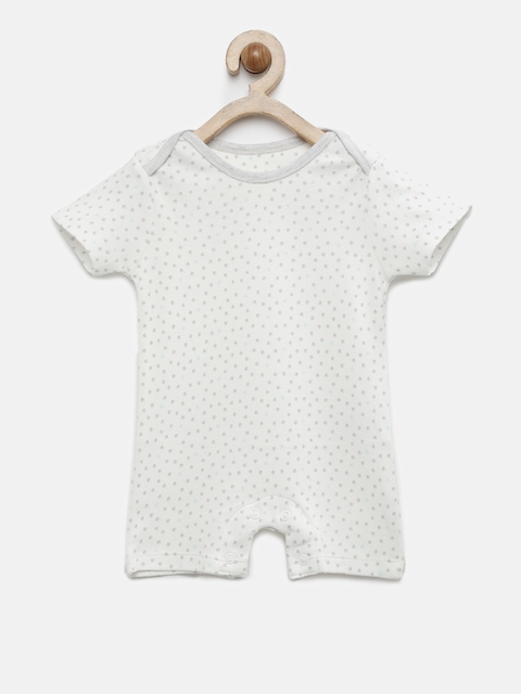 Babysafe Boys Off-White Printed Rompers