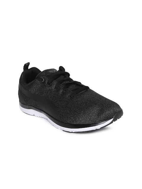 Puma Women Black PUMA Flex XT Knit Wn s Running Shoes