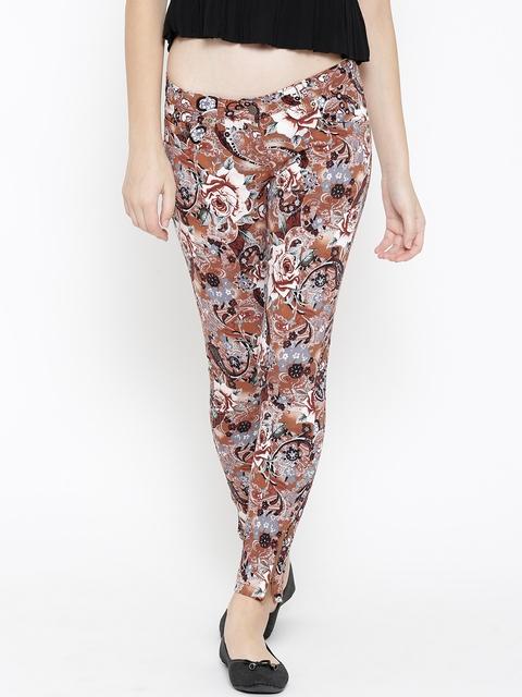 Westwood Multicoloured Floral Print Skinny Fit Treggings