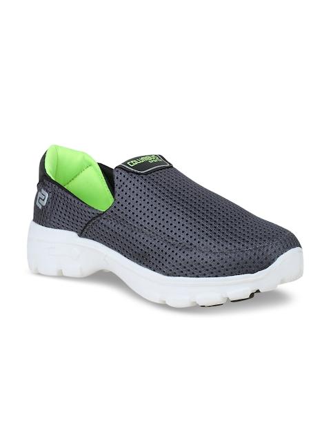 Columbus Men Grey Slip-On Sneakers