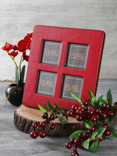 Pure Home and Living Red Solid Photo Frame