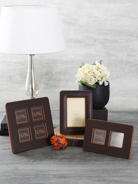 Pure Home and Living Brown Solid Photo Frame