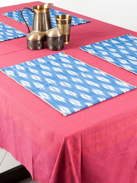 Fabindia Set of 6 Blue & White Table Mats