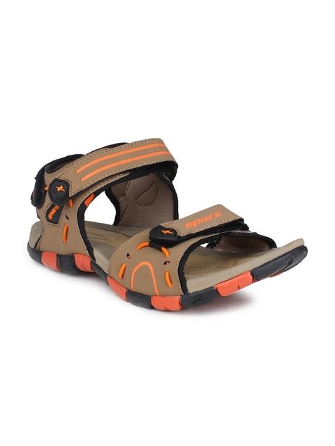 Sparx Men Beige & Orange Comfort Sandals