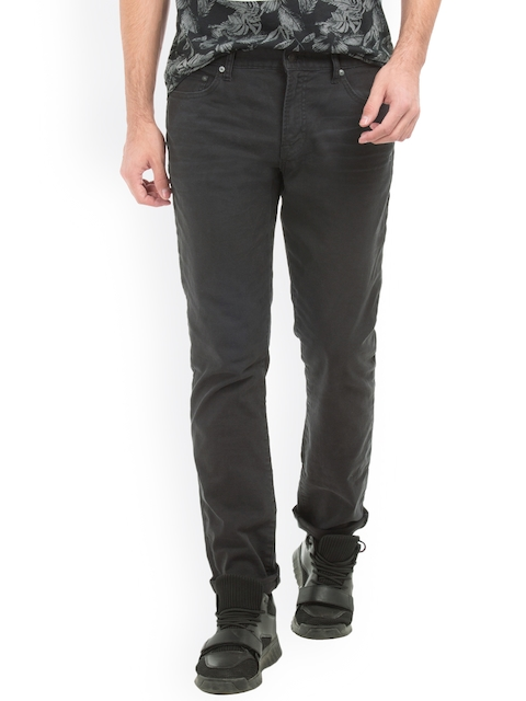 Aeropostale Men Black Skinny Fit Mid-Rise Clean Look Jeans