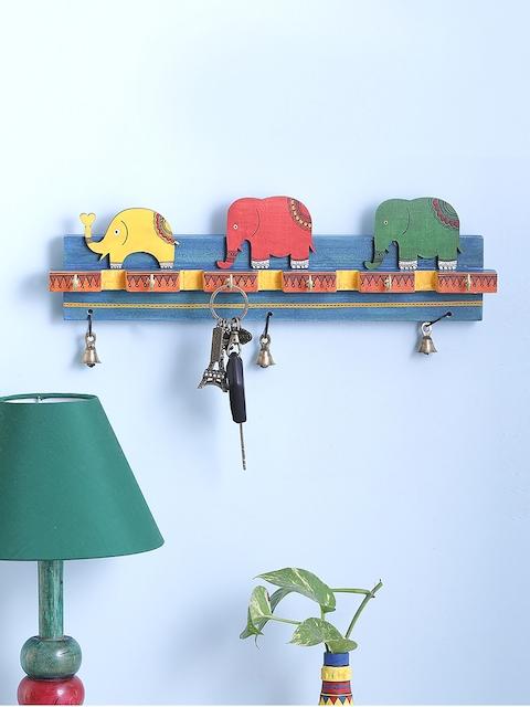 VarEesha Multicoloured Wooden Key Holder