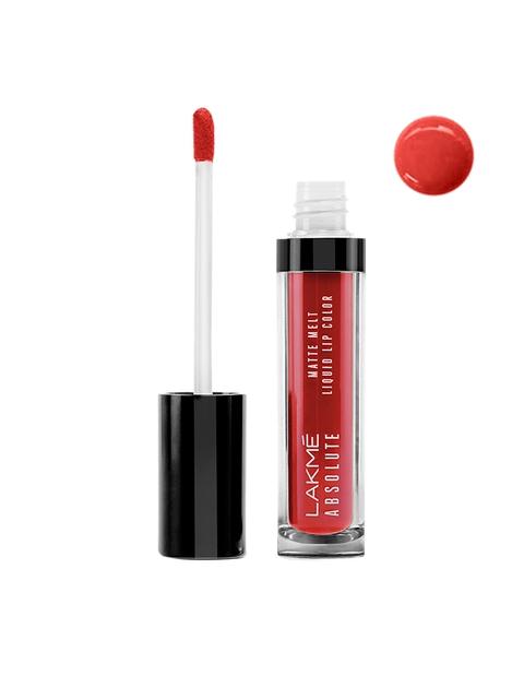 Lakme Absolute 05 Red Smoke Matte Melt Liquid Lip Color 6ml