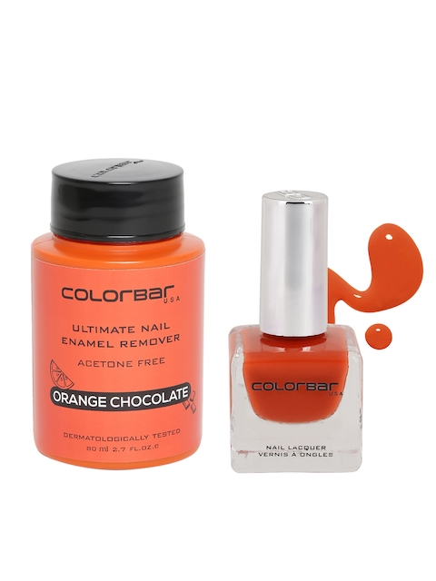 Colorbar Orange Pop Luxe Nail Lacquer & Enamel Remover Set
