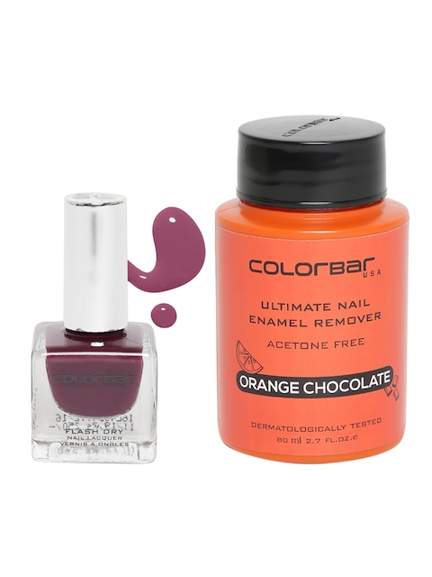 Colorbar Women Set of Ultimate Nail Enamel Remover & Emerald Heights 17 Nail Lacquer