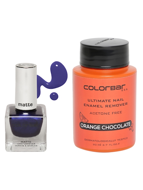 Colorbar Women Set of Nail Enamel Remover & Amethyst Dusk 15 Nail Lacquer