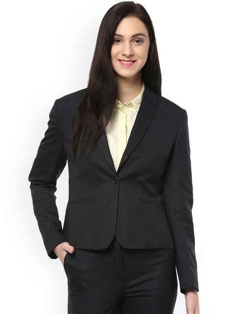 Allen Solly Woman Black Formal Blazer