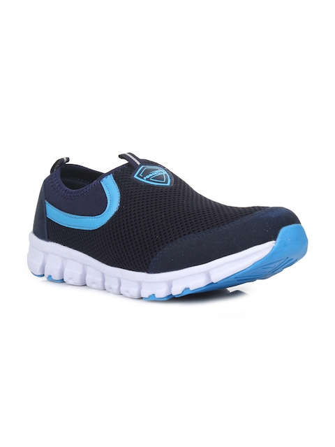 Liberty Men Blue Leather Running Shoes
