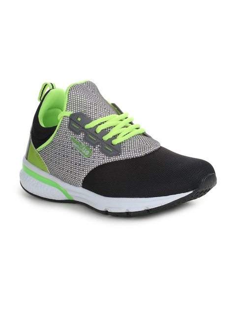 Liberty Men Grey Leather Running Shoes
