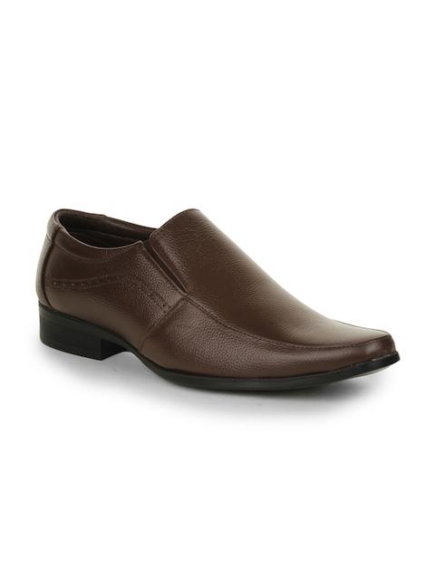 Liberty Men Brown Semi-Formal Slip-On Shoes