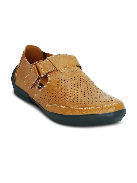 Get Glamr Men Tan Brown Fisherman Sandals