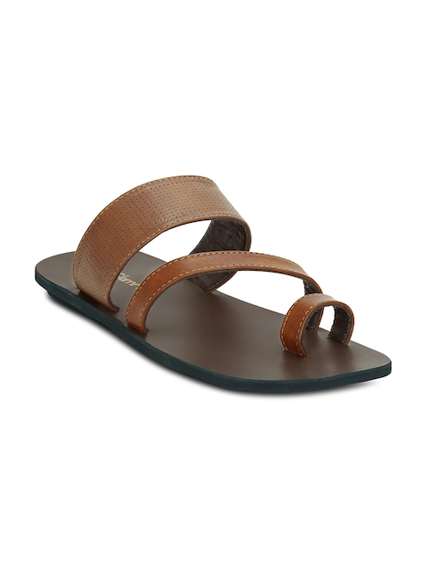 Get Glamr Men Tan Brown Comfort Sandals
