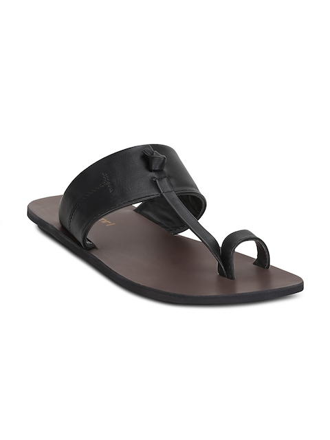 Get Glamr Men Black Comfort Sandals