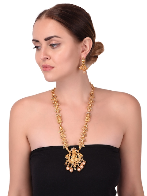 TJORI Handcrafted Gold-Plated Jewellery Set