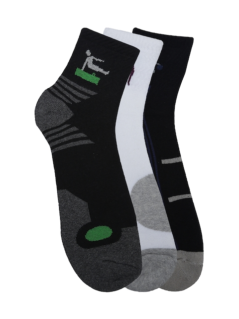 Alvaro Castagnion Men Pack of 3 Assorted Ankle-Length Socks