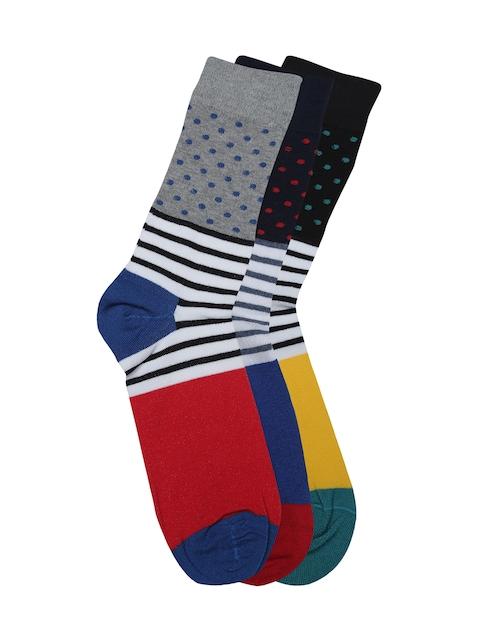 Alvaro Castagnion Men Pack of 3 Assorted Above Ankle-Length Socks