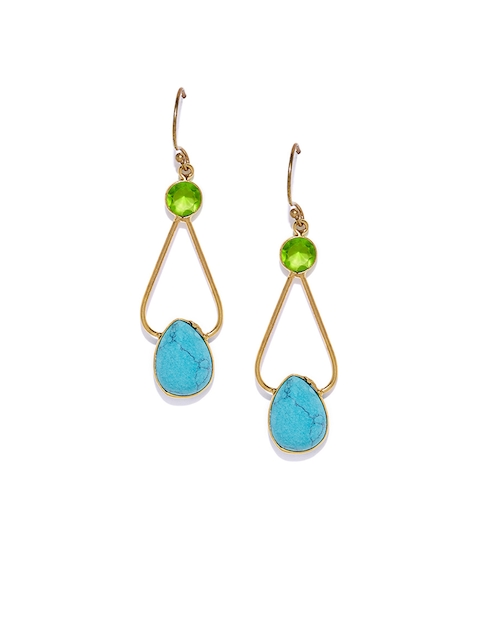 Bamboo Tree Jewels Blue Contemporary Drop Earrings