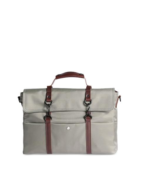 c7587aabad46c6 scarters Unisex Grey   Brown Solid Laptop Bag