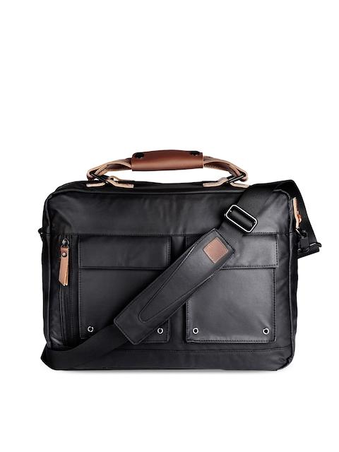 scarters Unisex Black Solid Laptop Bag