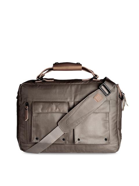 scarters Unisex Brown Solid Laptop Bag
