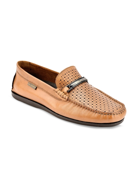 Lee Cooper Men Tan Leather Loafers