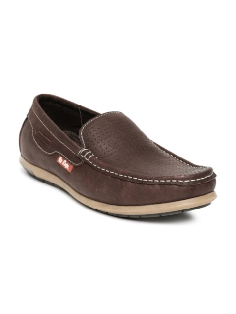 Lee Cooper Men Leather Brown Loafers