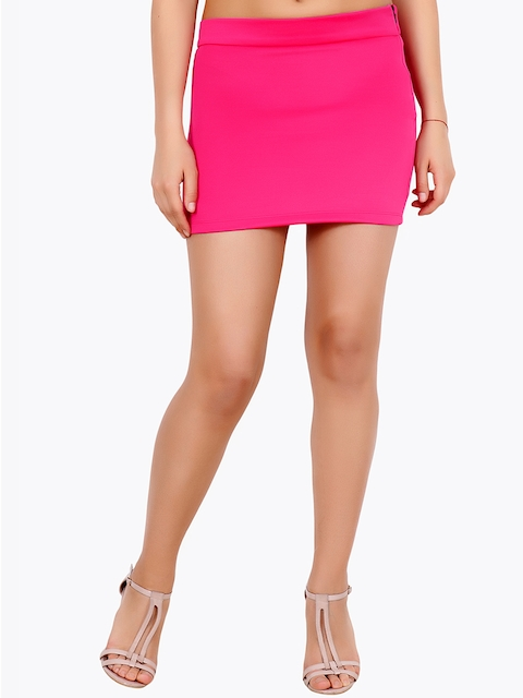 Cation Women Pink Pencil Mini Skirt